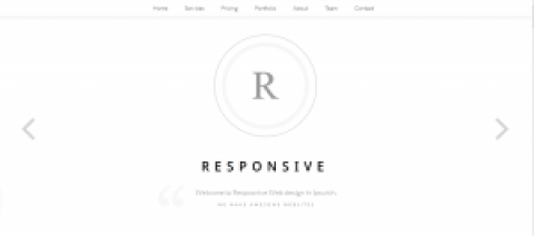 Responsive web design new splash page